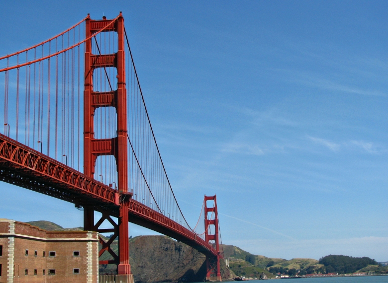 Fort Point View Of Golden Gate Bridge