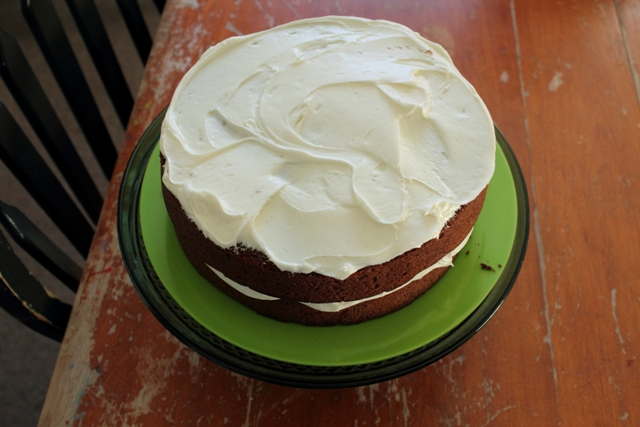 Spice Cake Frosted