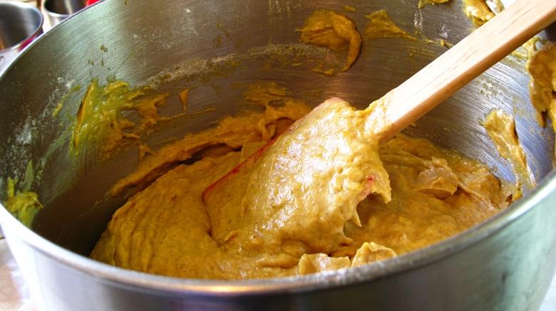 Pumkin Ginger Cupcake batter