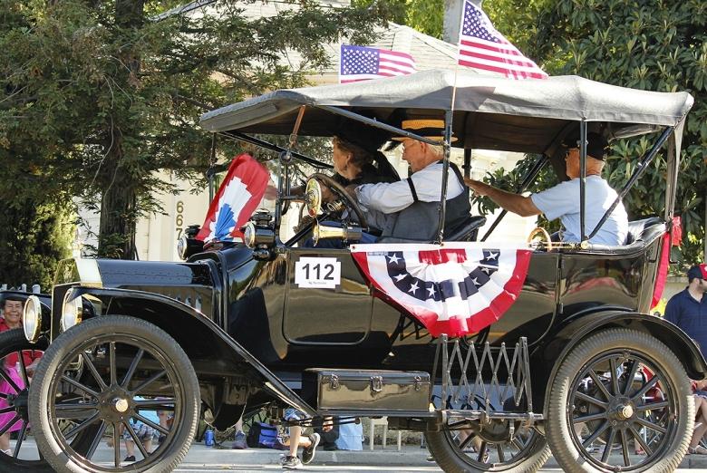 Vintage Car in 4th July Parade Galt Ca
